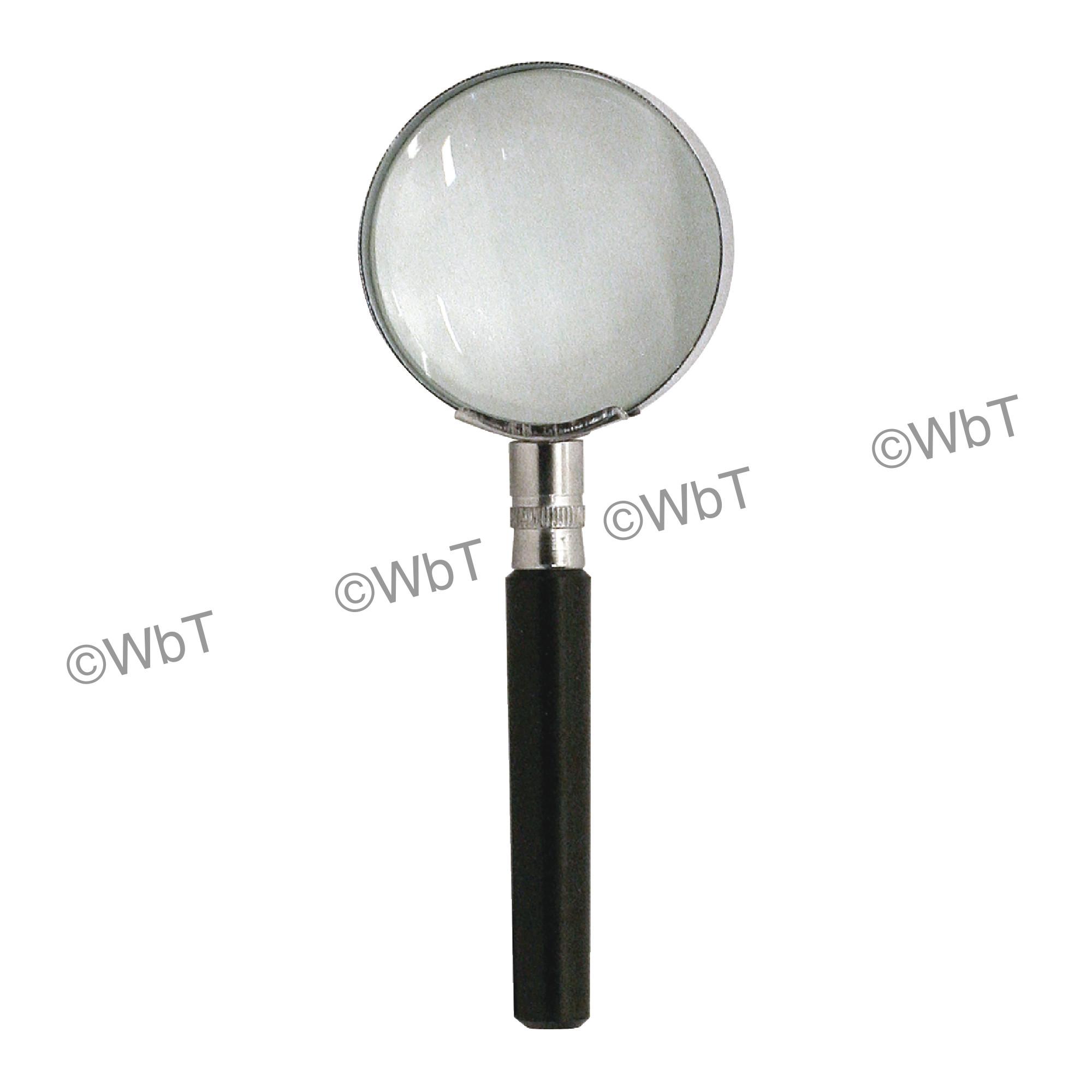 4X Round Handheld Magnifier