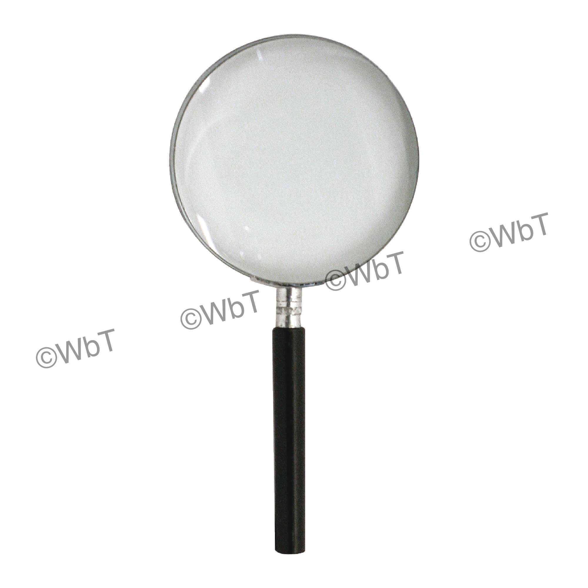 3X Round Handheld Magnifier