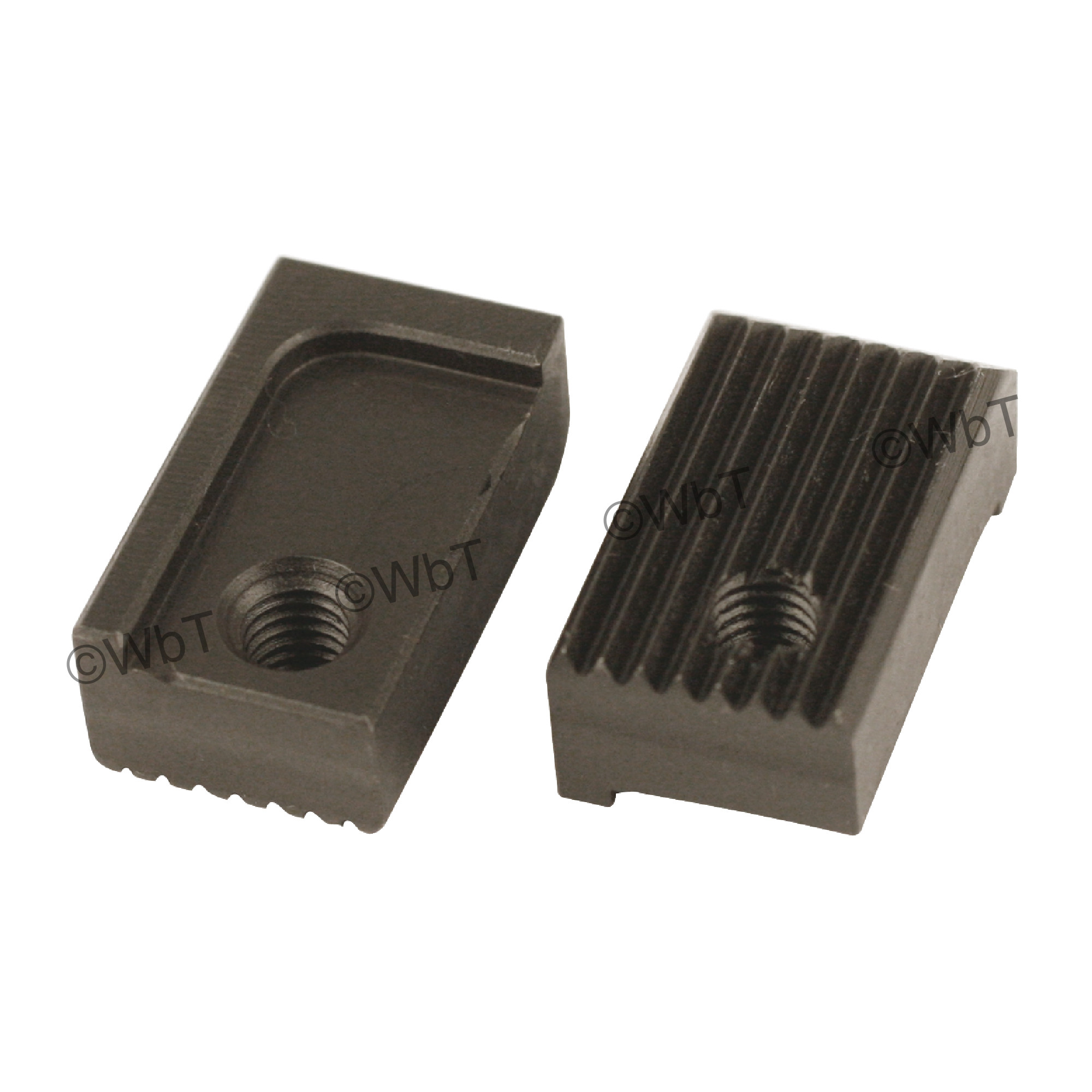 Compact CNC Bar Puller - Serrated Jaw Set