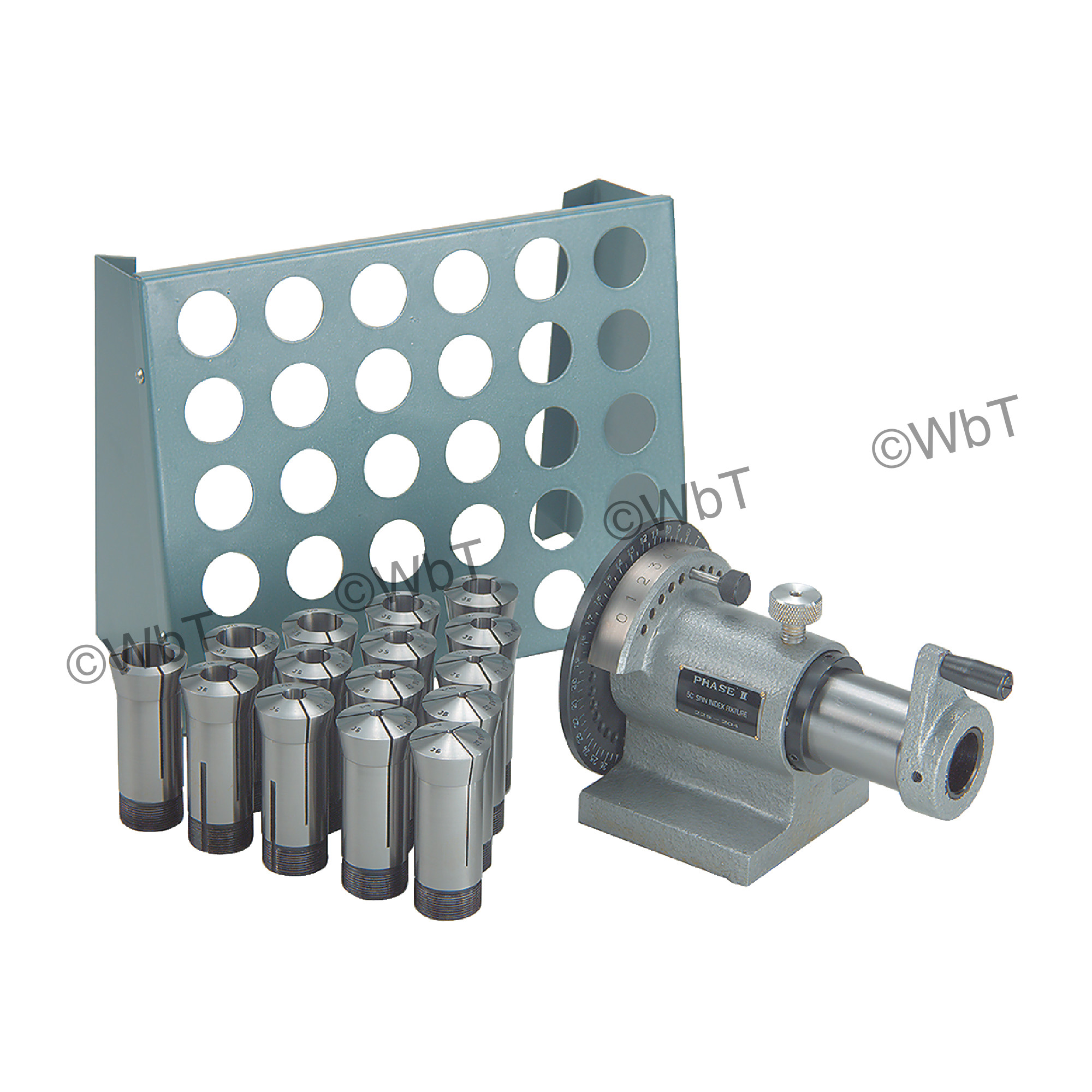 5C 15pc Collet Set, Index and Collet Rack