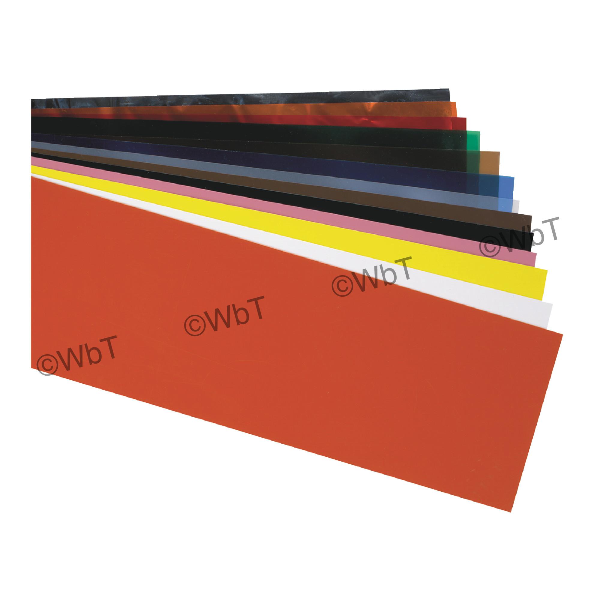 Amber Plastic Shim Stock Sheet
