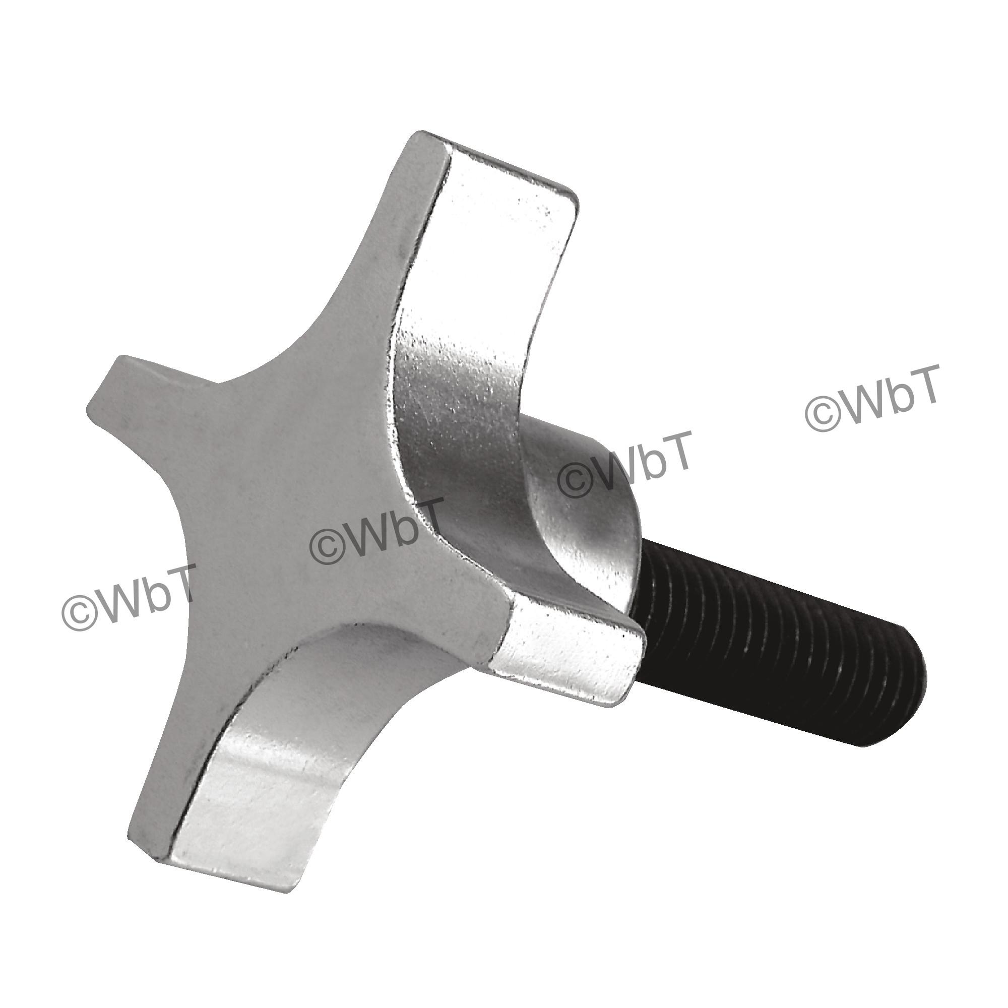 4-Star Extruded Aluminum Clamping Knob
