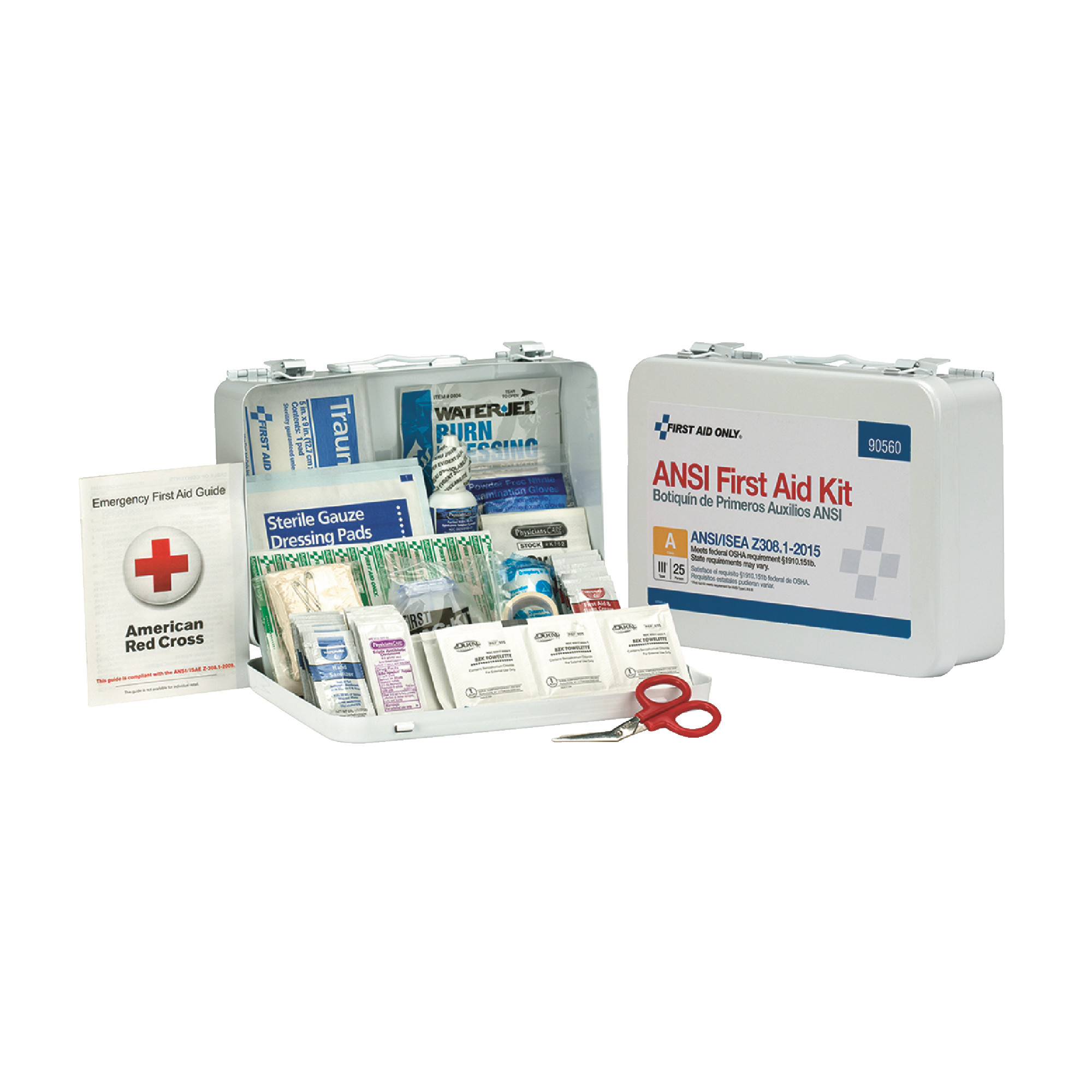25 Person Metal First Aid Kit ANSI A