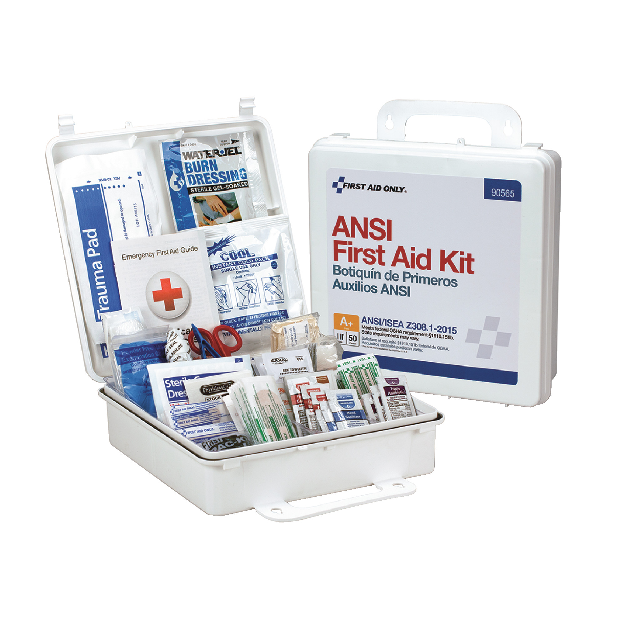 50 Person Plastic First Aid Kit ANSI A+