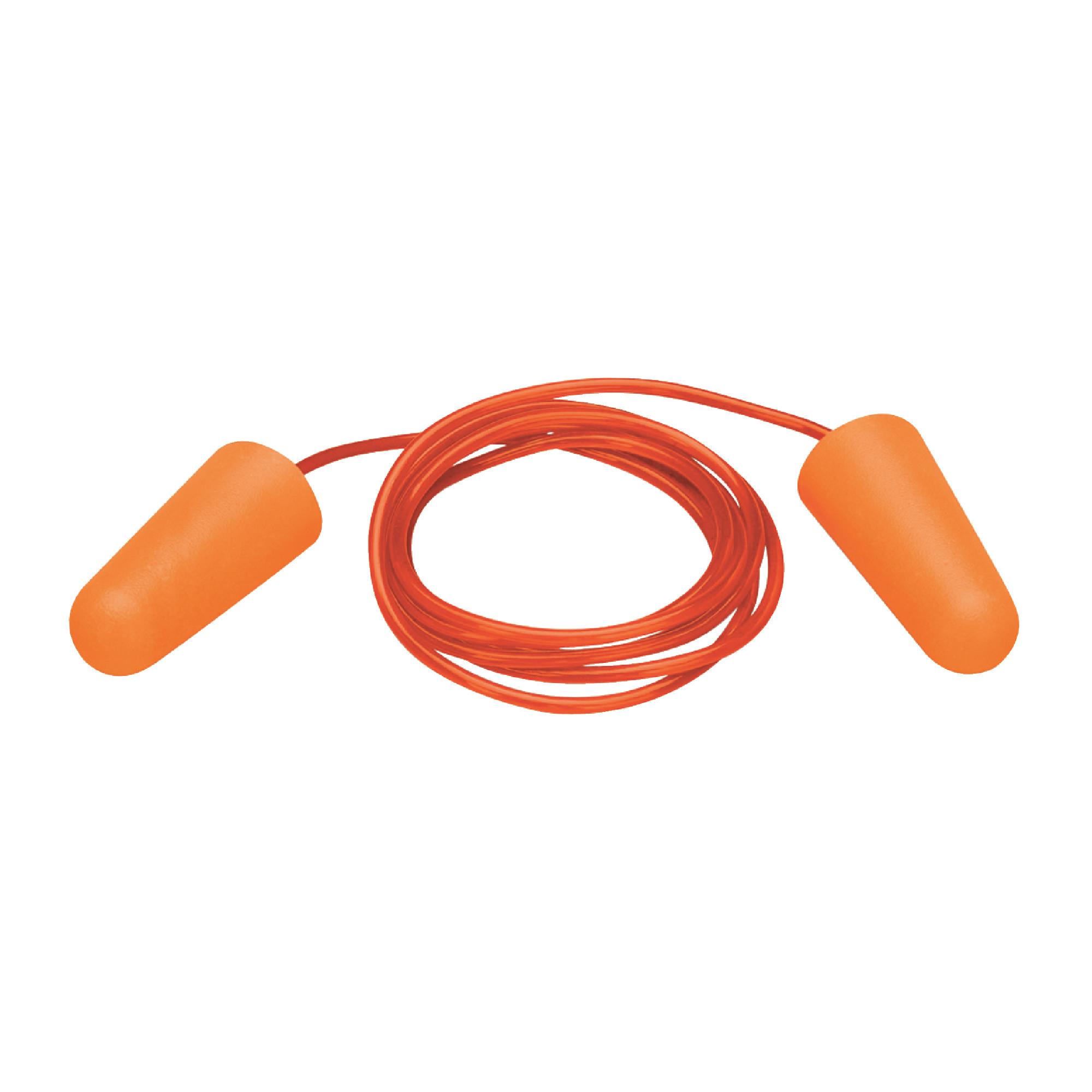ELVEX Uni-Fit Disposable PVC Corded Orange Ear Plugs - 100/Pack