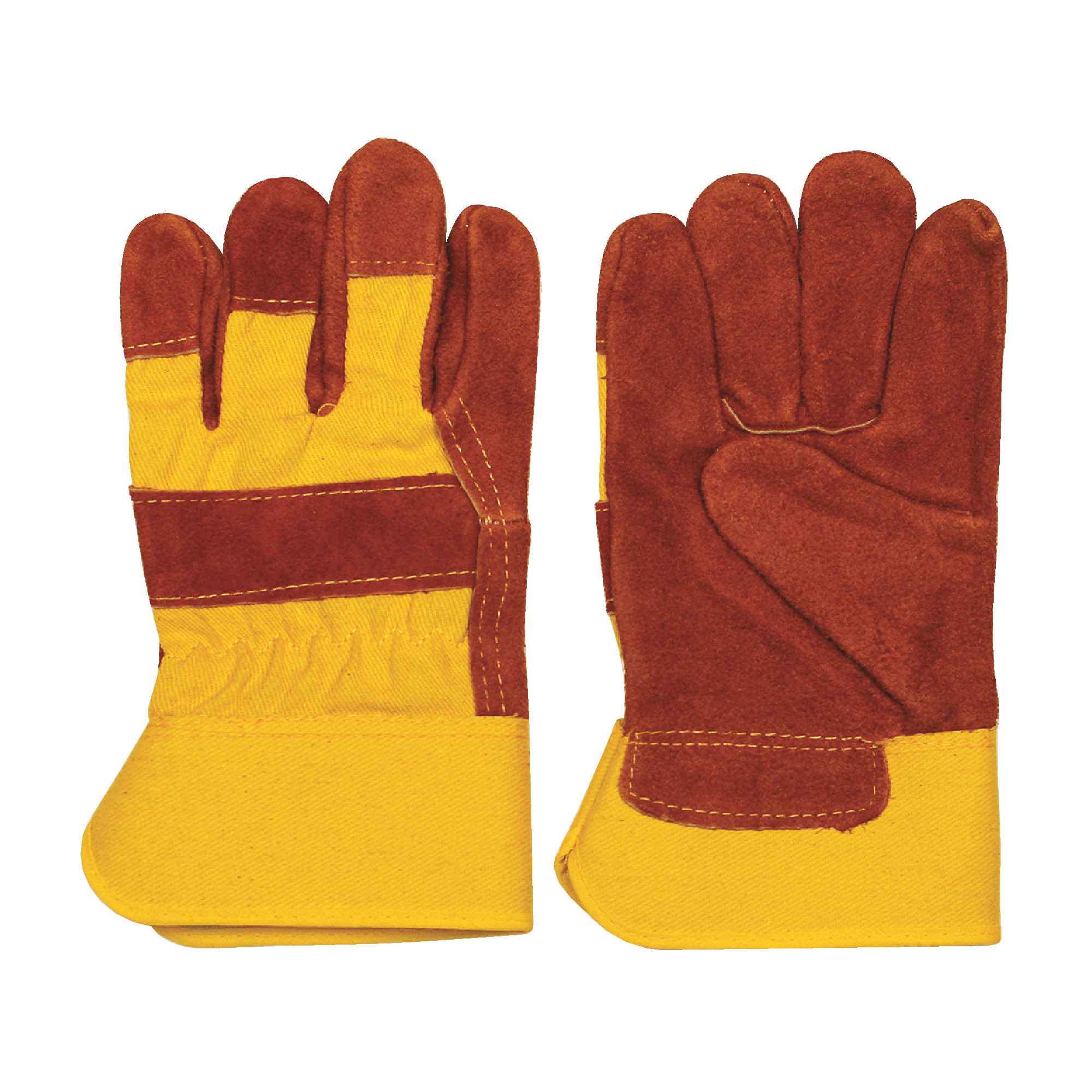 High Visibility Orange Leather Grade Glove in Large