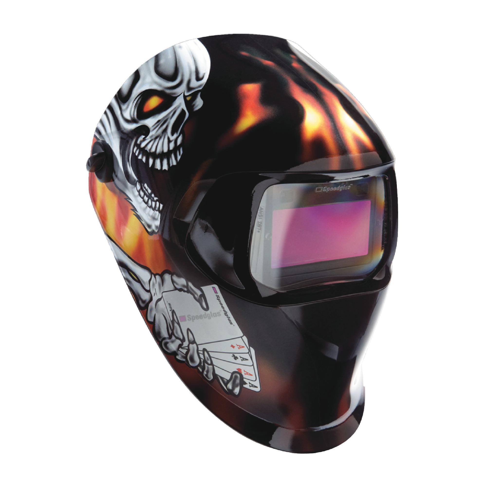"Speedglas™ 100 Welding Helmet Aces High with ADF 100V 1.73"" x 3.66"""