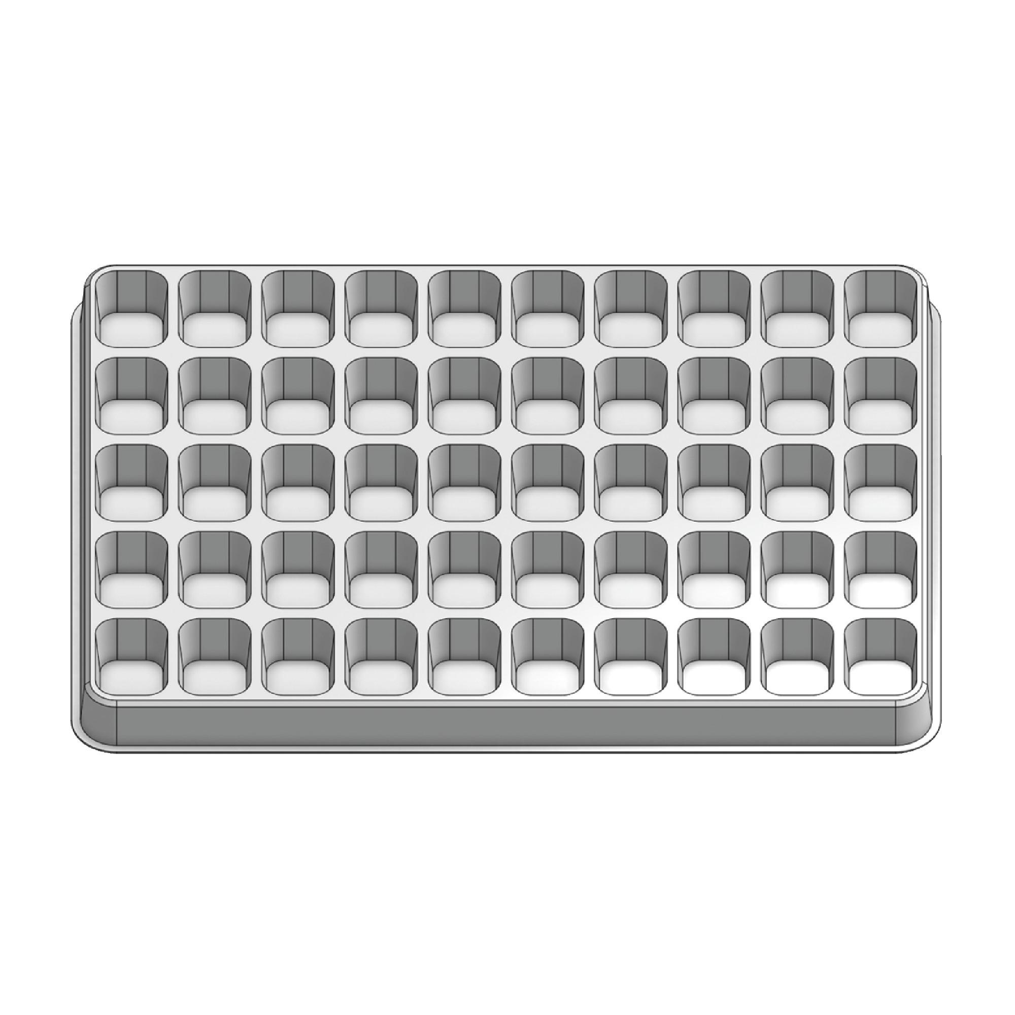50 Pocket Stock Plastic Tray