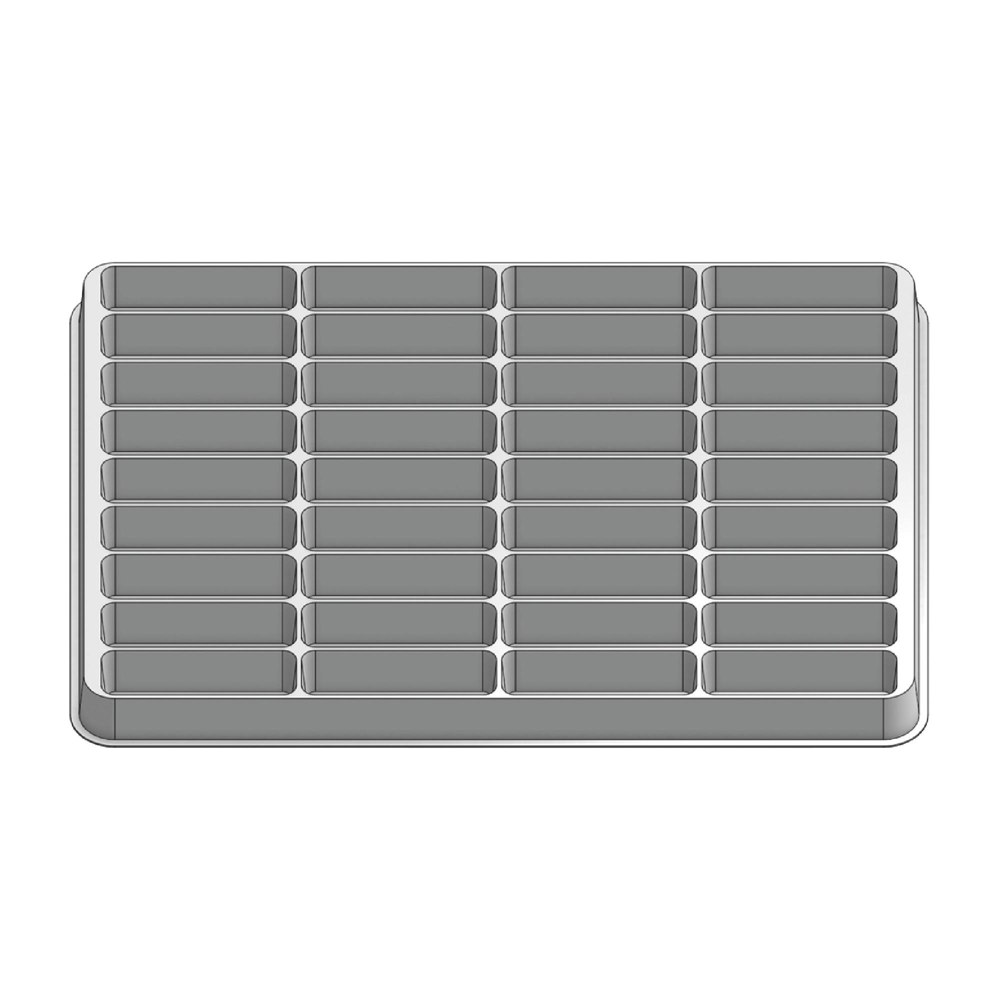 36 Pocket Stock Plastic Tray