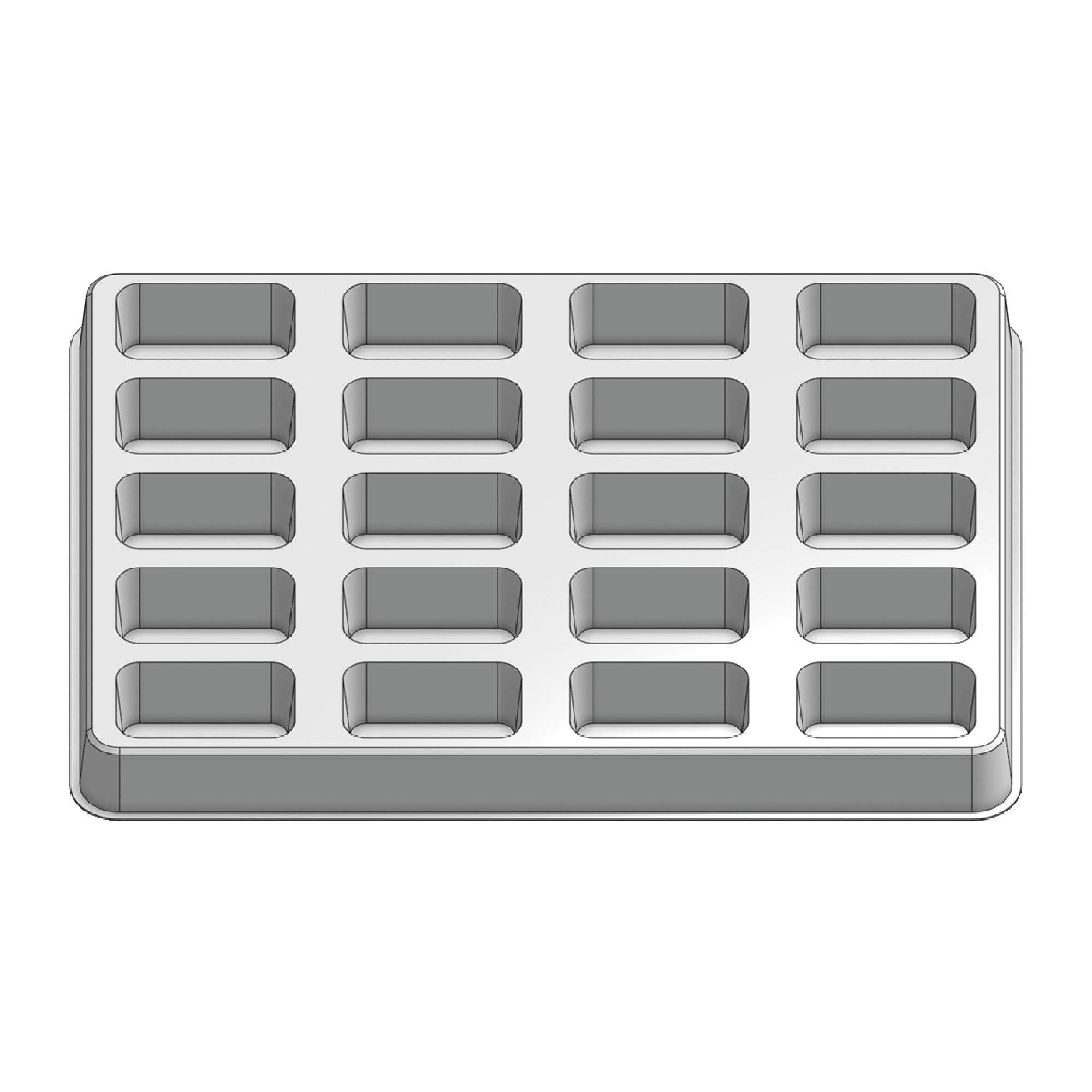 20 Pocket Stock Plastic Tray
