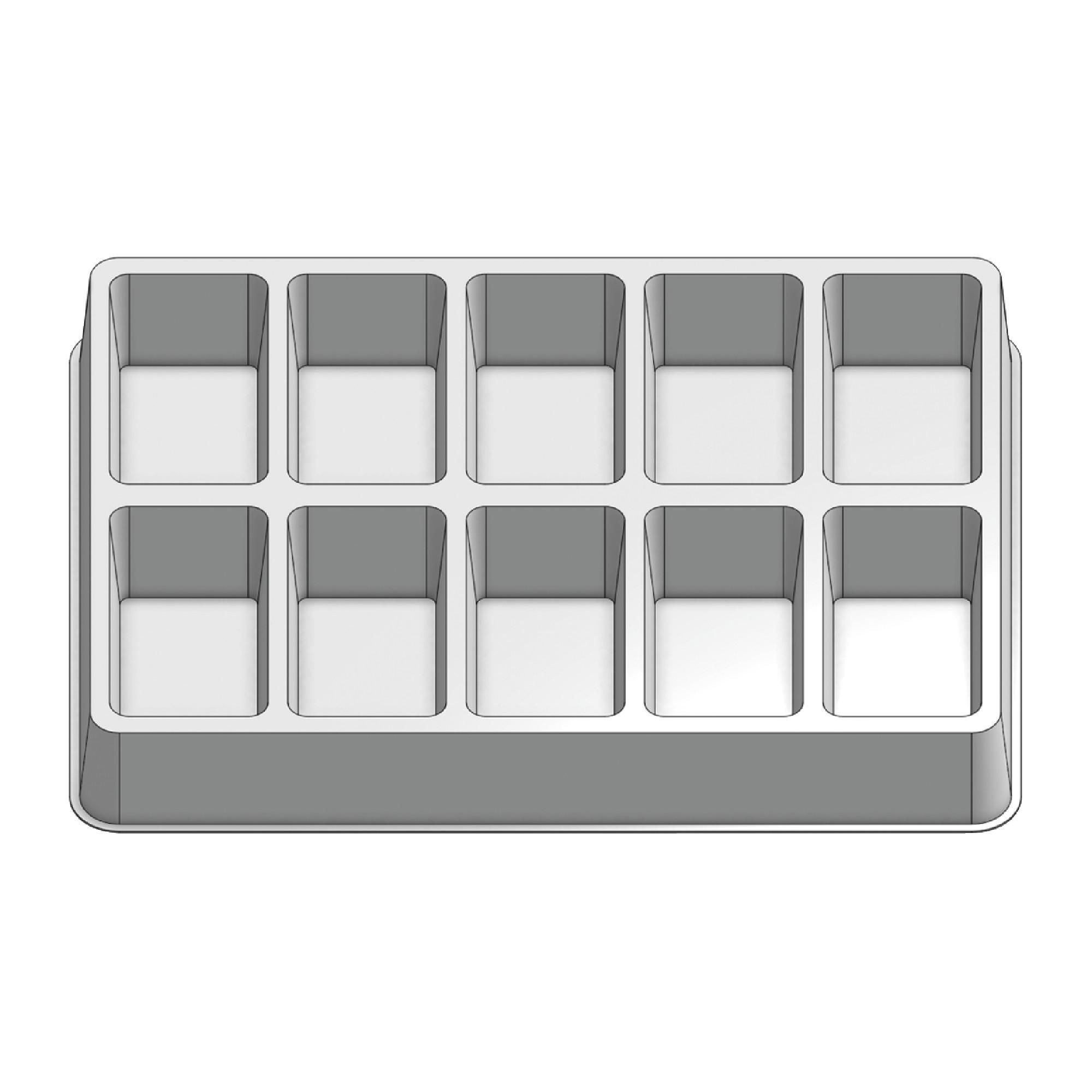 10 Pocket Stock Plastic Tray
