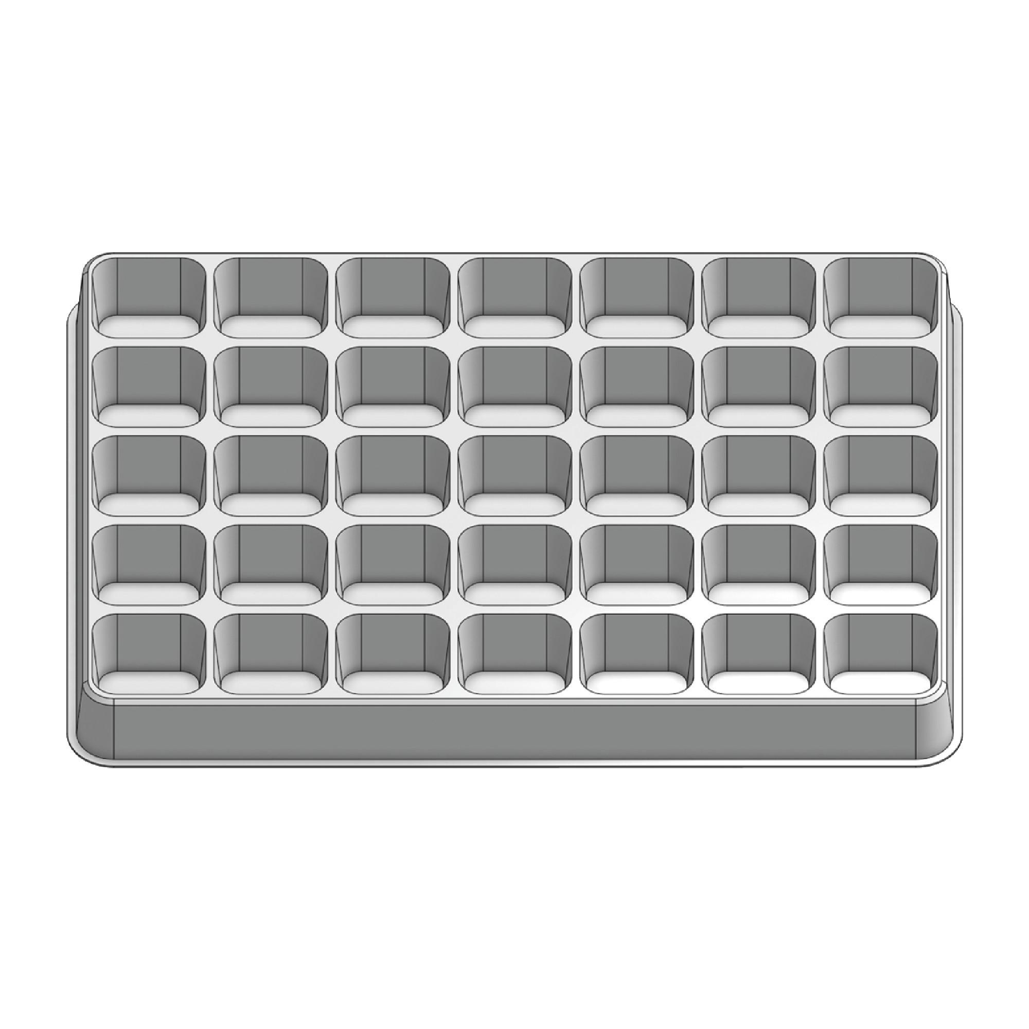 35 Pocket Stock Plastic Tray