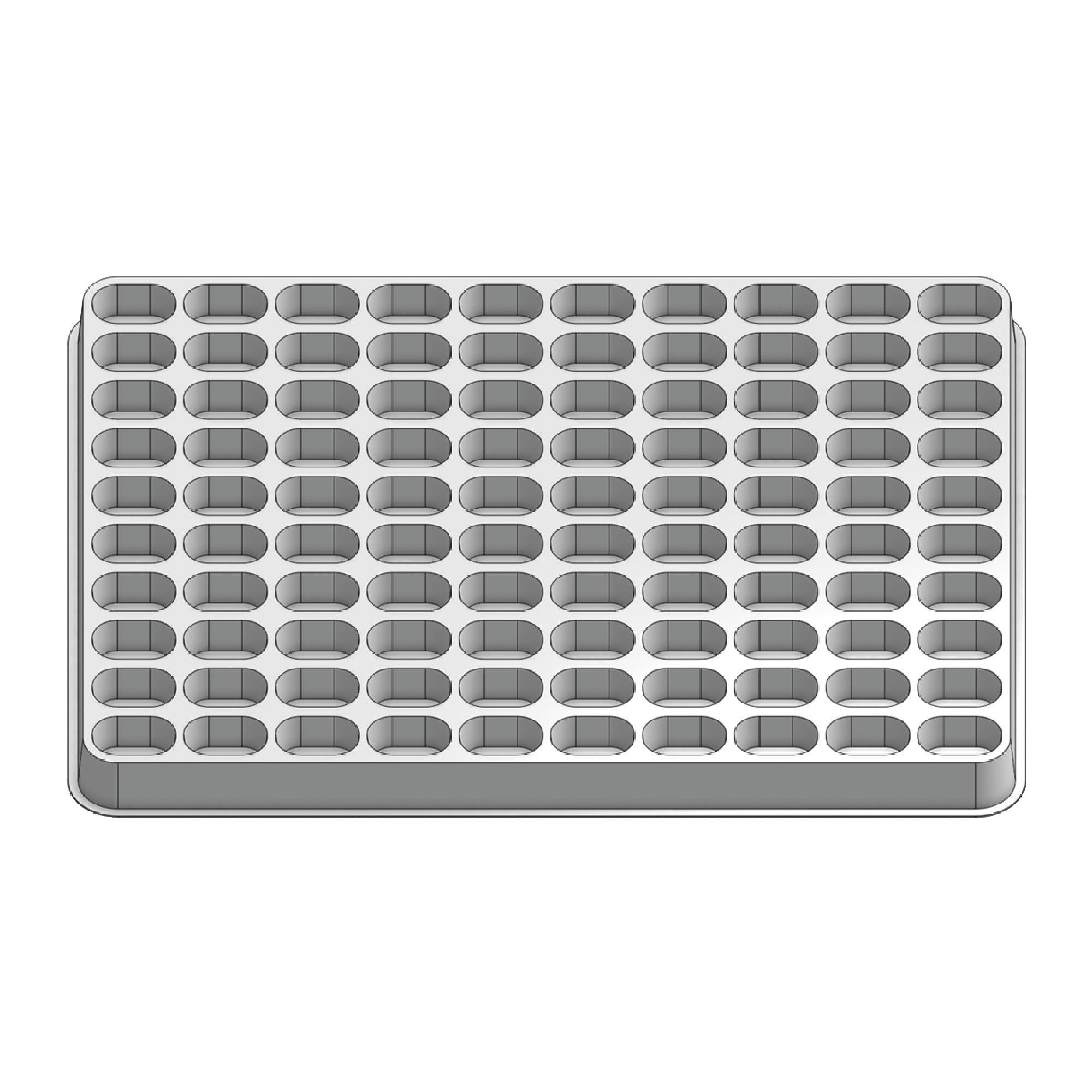 100 Pocket Stock Plastic Tray