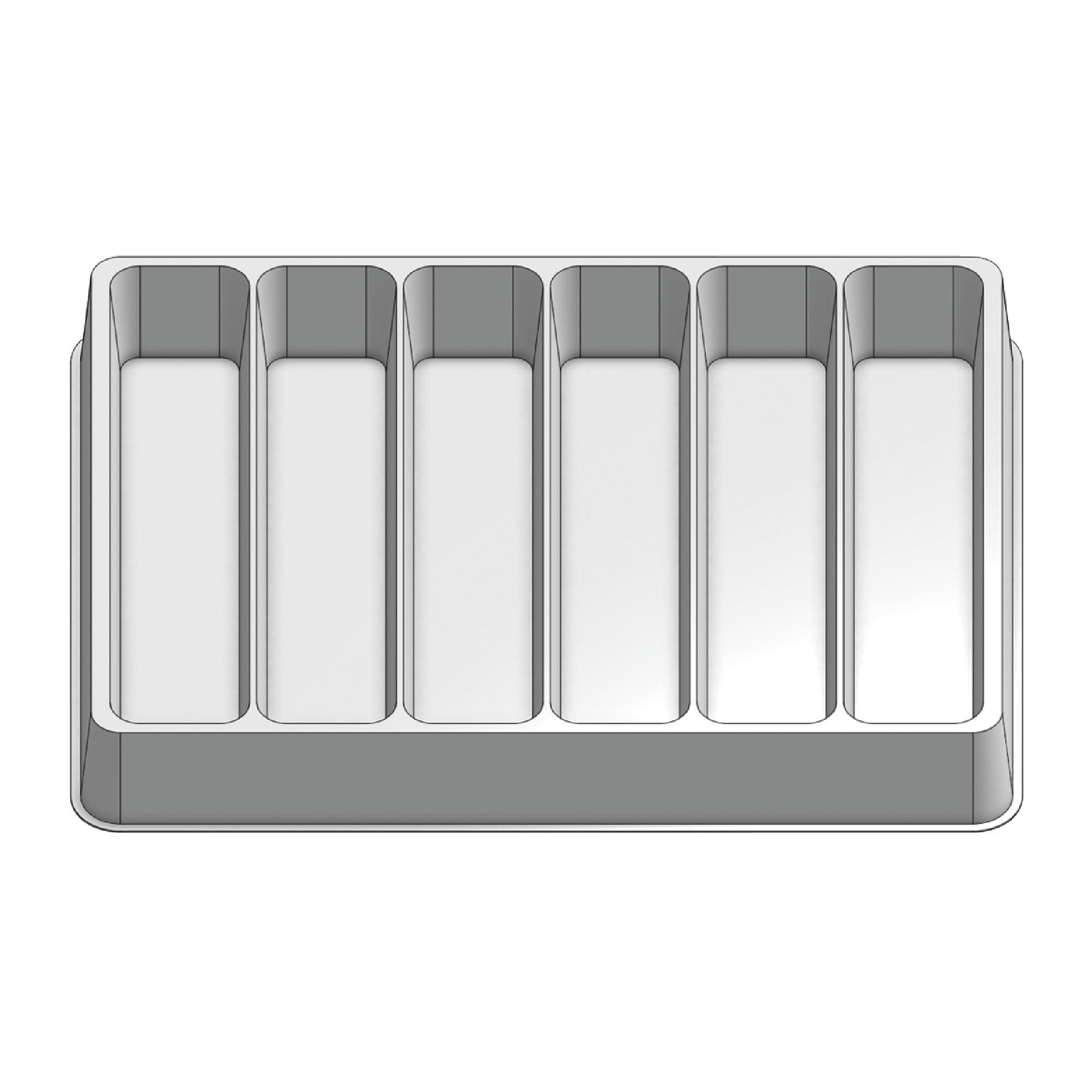 6 Pocket Stock Plastic Tray