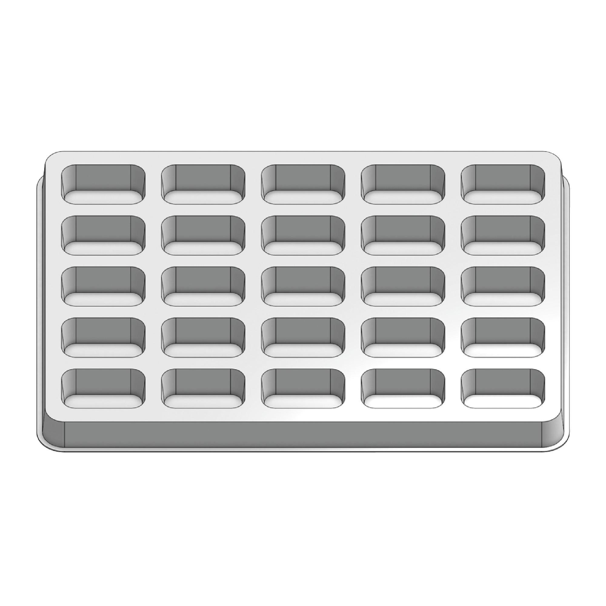 25 Pocket Stock Plastic Tray