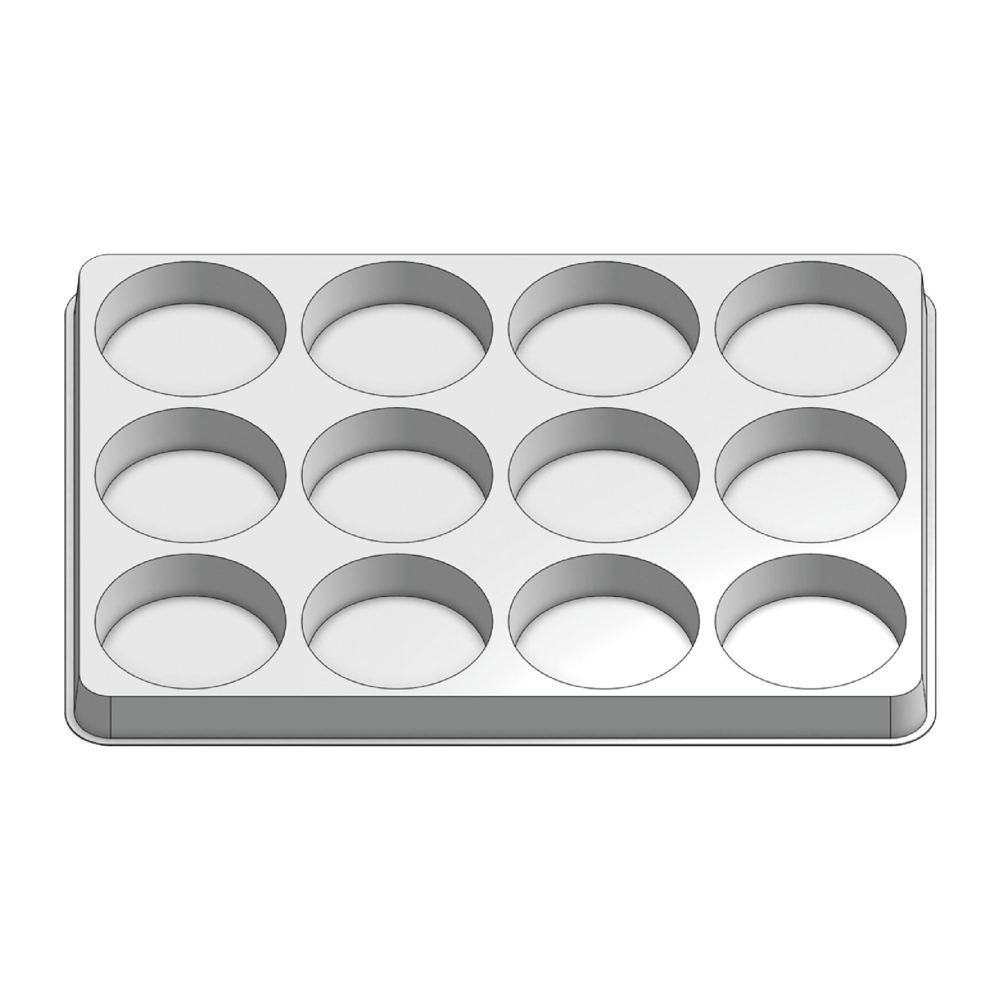 12 Pocket Stock Plastic Tray