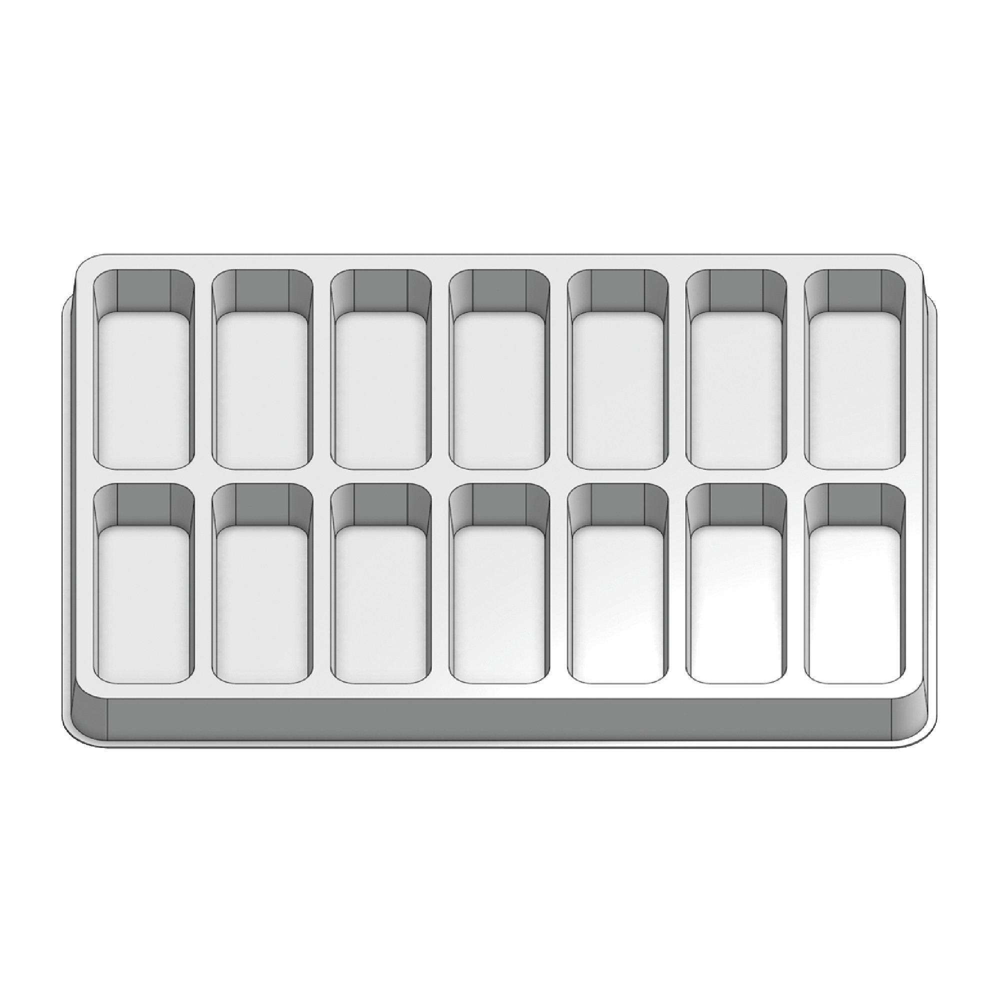 14 Pocket Stock Plastic Tray