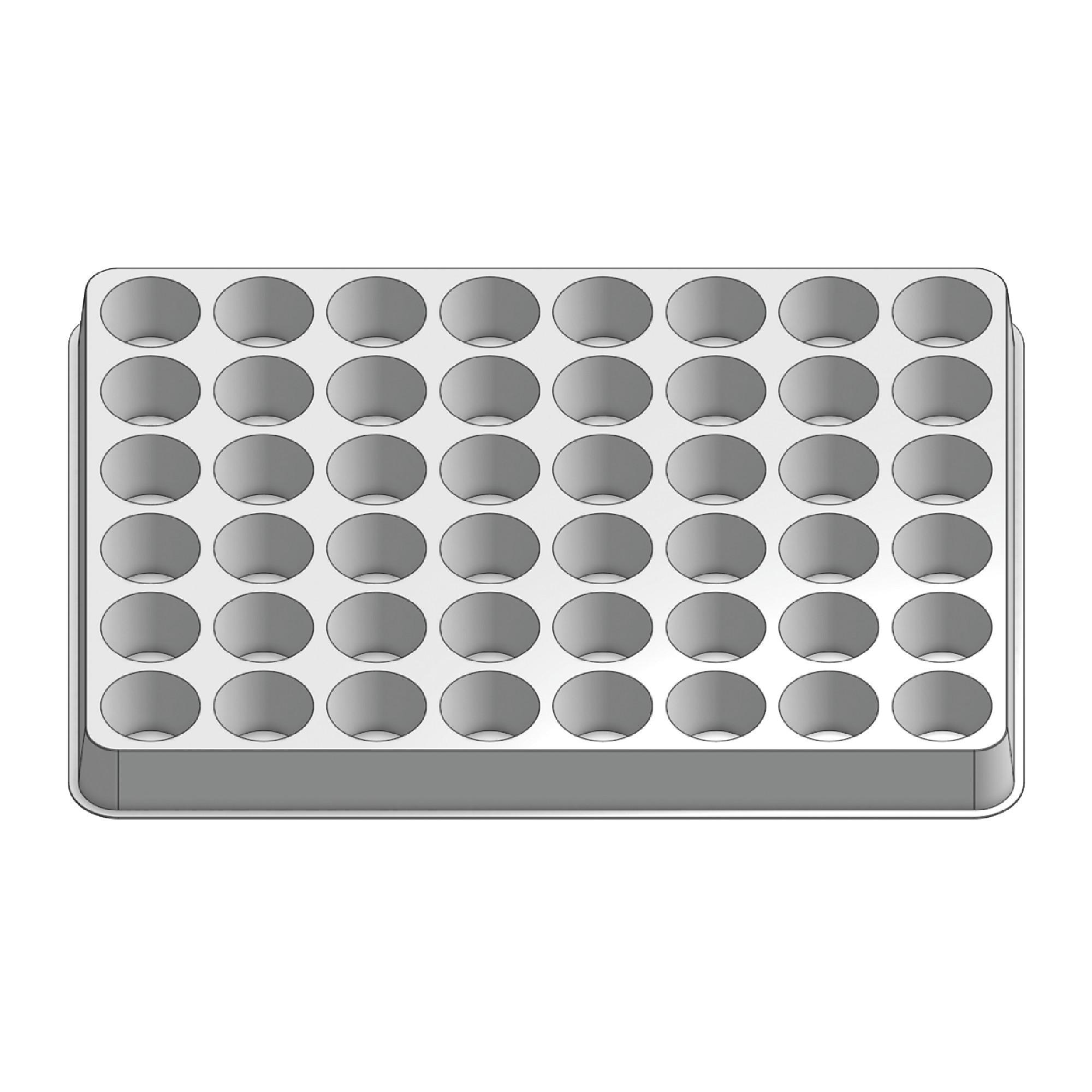 48 Pocket Stock Plastic Tray