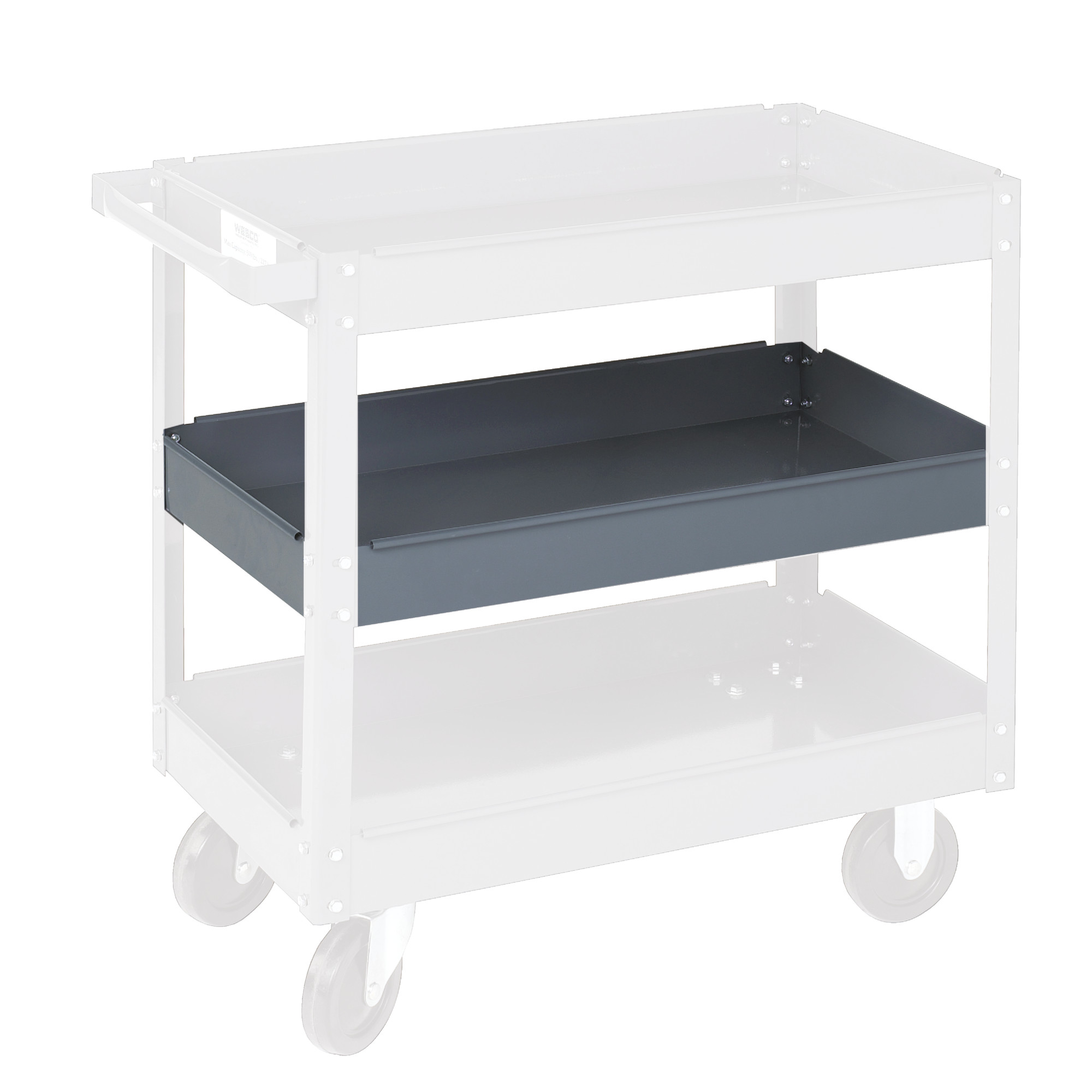 Optional Middle Shelf for Steel Service Cart