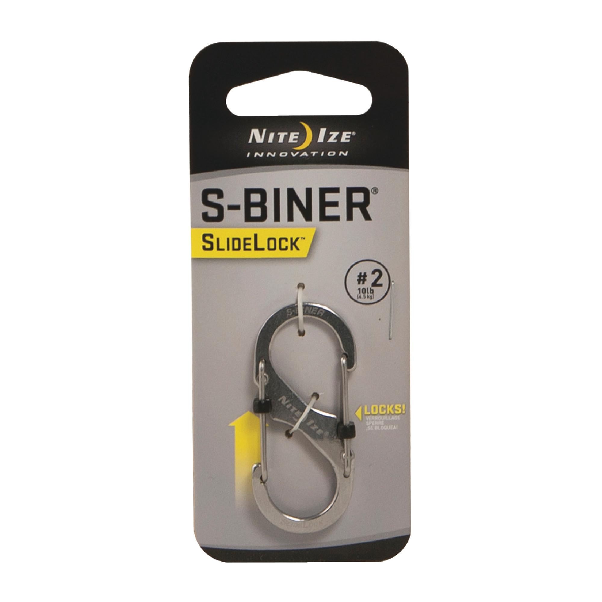 NITE IZE Black #4 75 Lb Rating S-Biner® Locking Double-Gate Carbiner