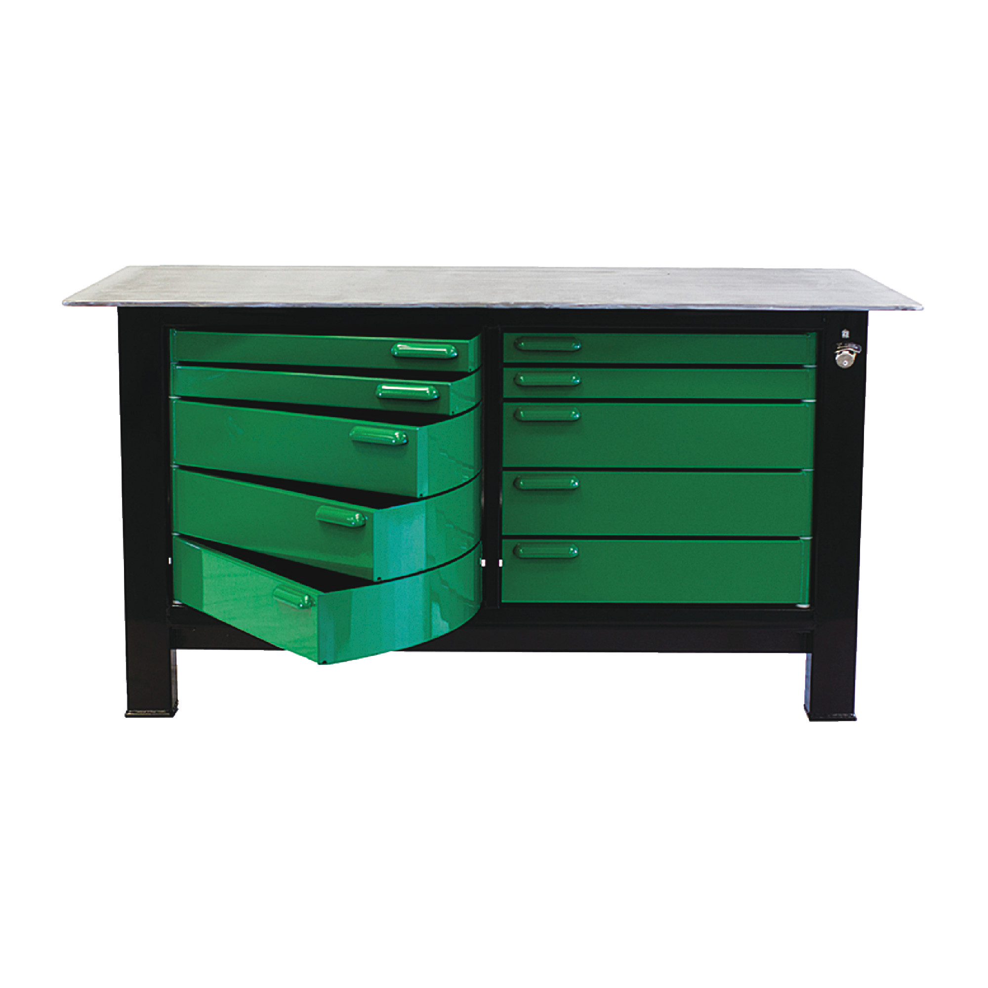 6' Long Two Full Banks Of Drawers