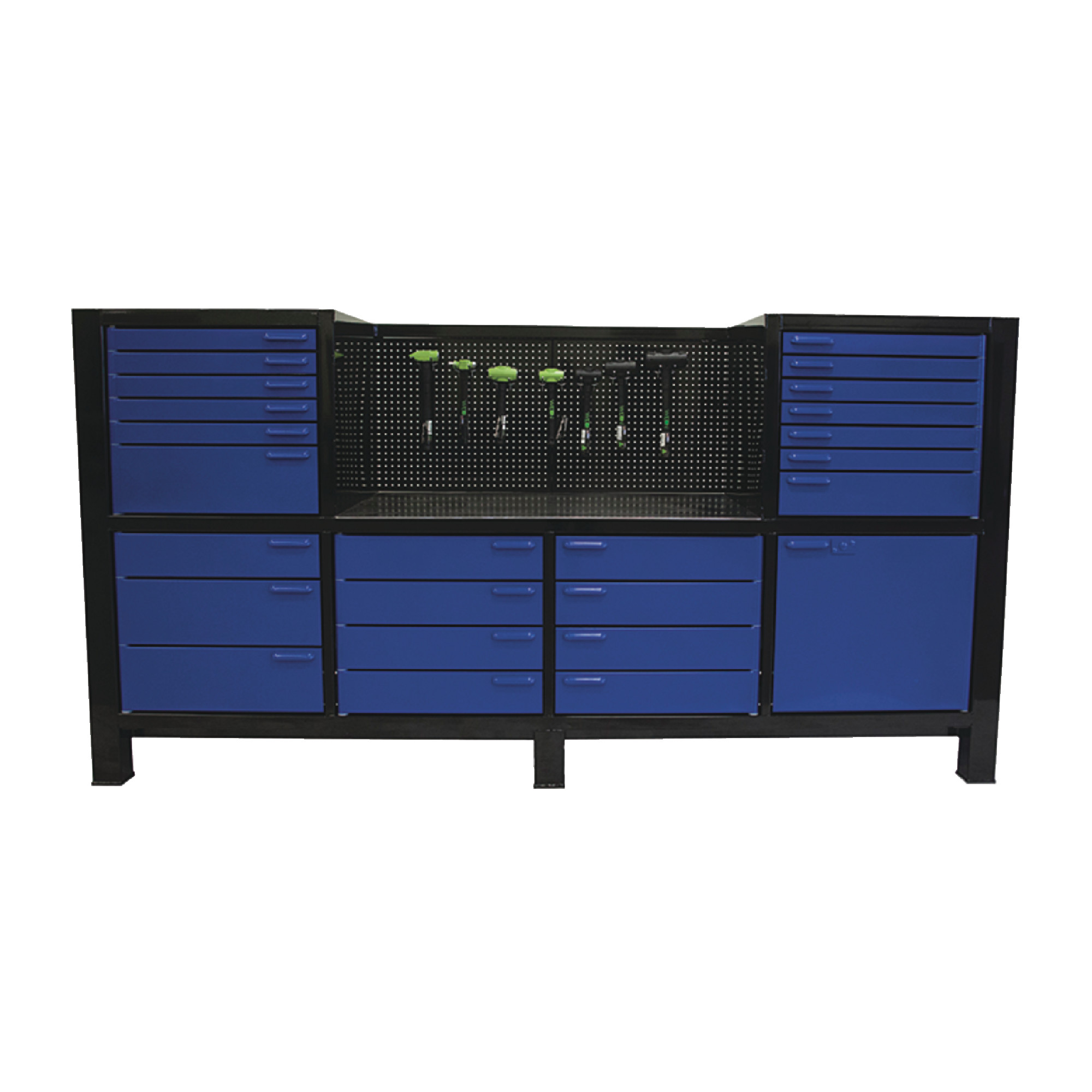 6Bay Space Saver Cabinet Six Full Banks Of Drawers Pegboard Included