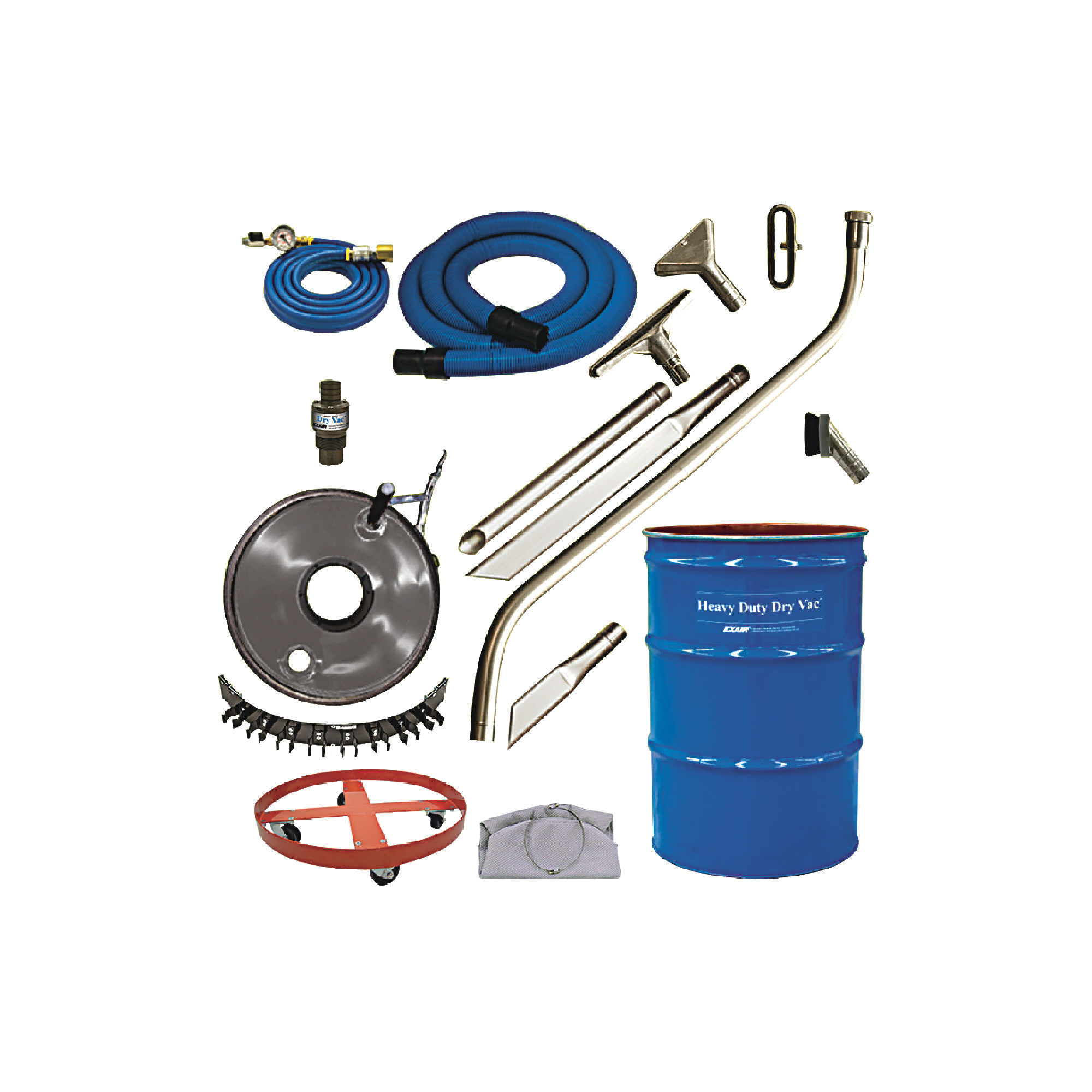 EXAIR 55 Gallon Premium Heavy Duty Dry Vac System  - Model #:  6397