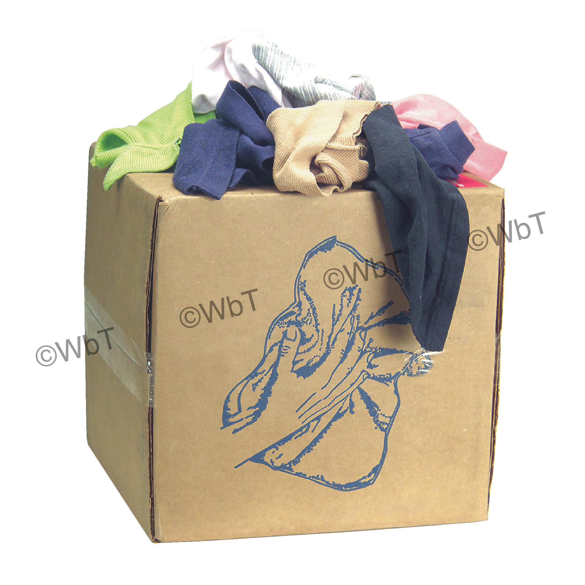 10 Lbs Economy Box of Cloth Rags