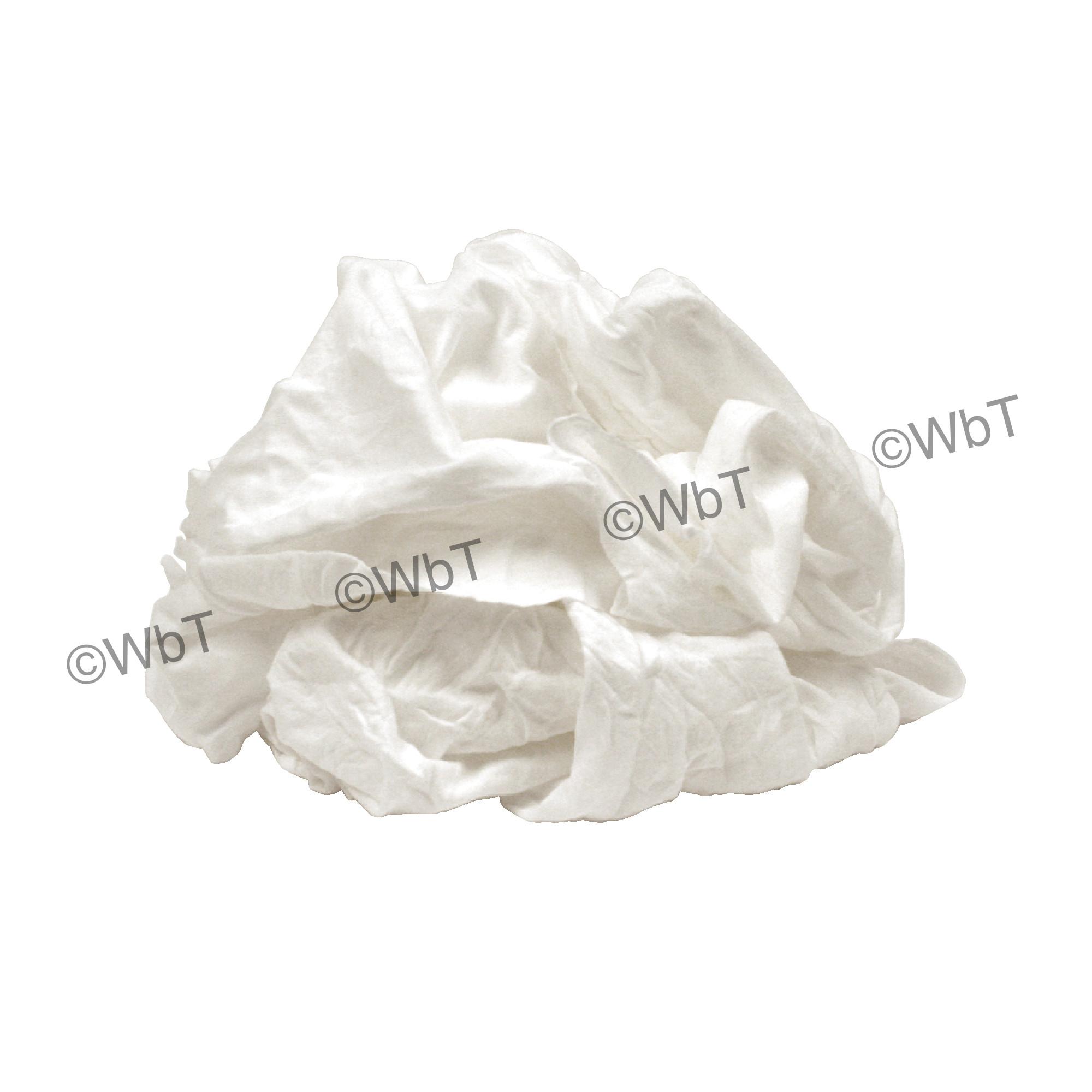 25 Lbs Premium White T-Shirt Rags